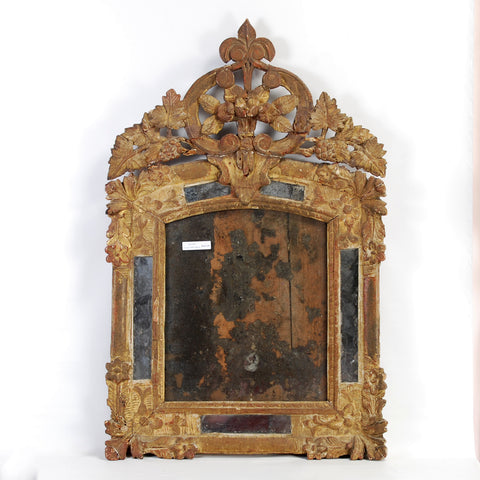 18th Century Crested Mirror
