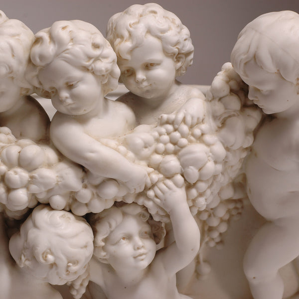 Parian Cherub Planter