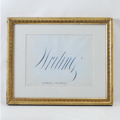 Framed Calligraphy Writing Without