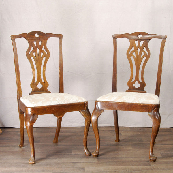 Pair English Chippendale Chairs
