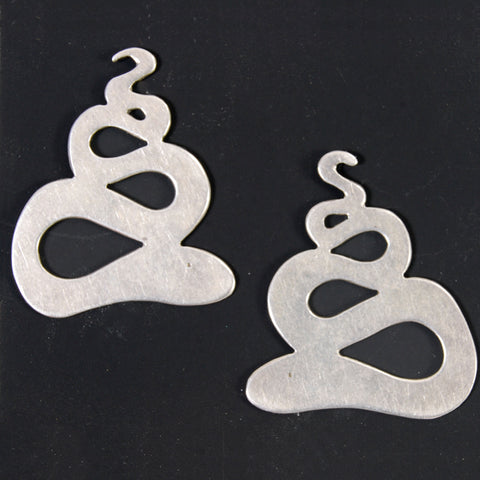Sterling Snake Earrings