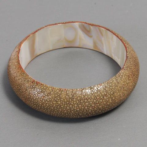 Shagreen Bangle Bracelet