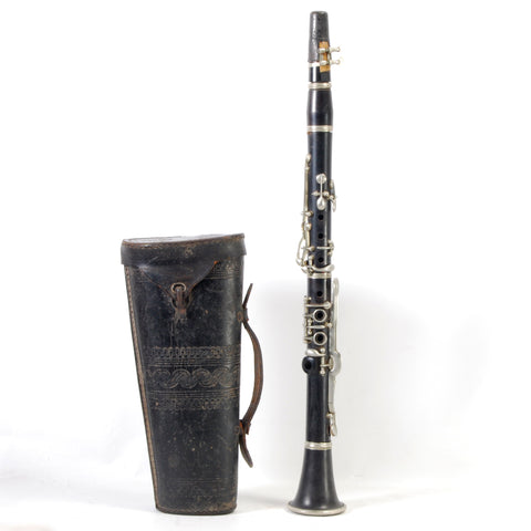 Clarinet In Leather Case