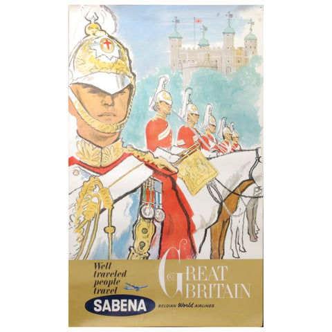 Sabena Great Britan Travel Poster