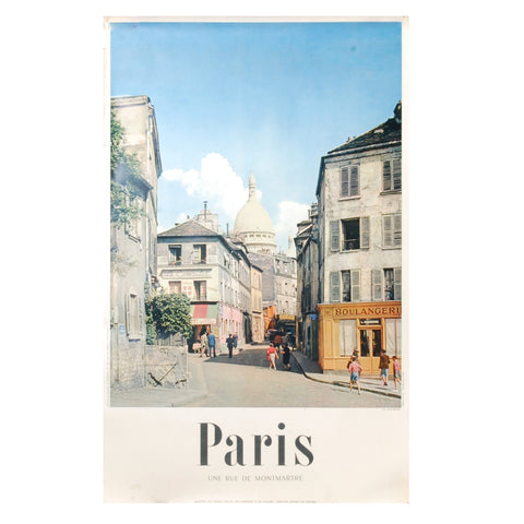 Paris Street Travel Poster