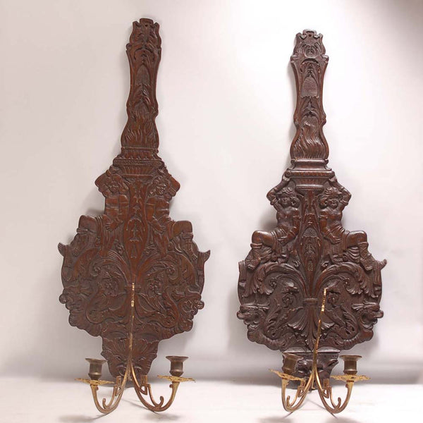 Carved Sconces
