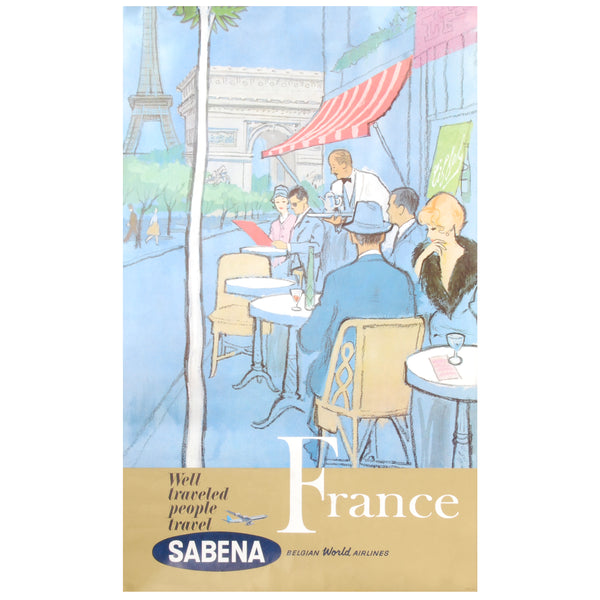 Sebena France Travel Poster