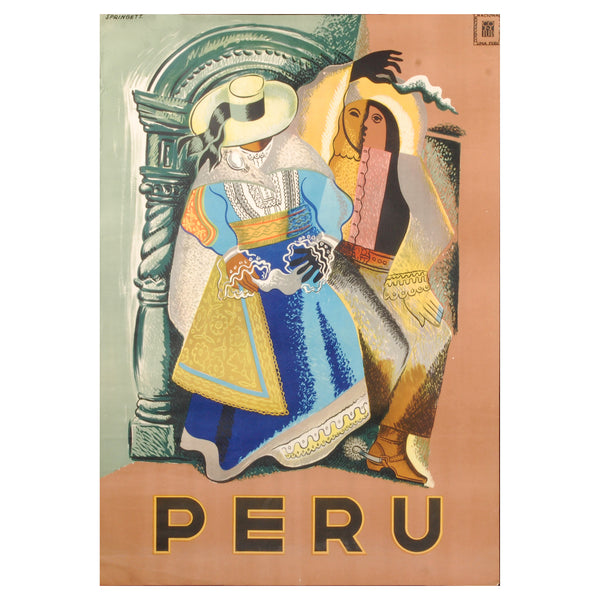Original Peru Travel Poster
