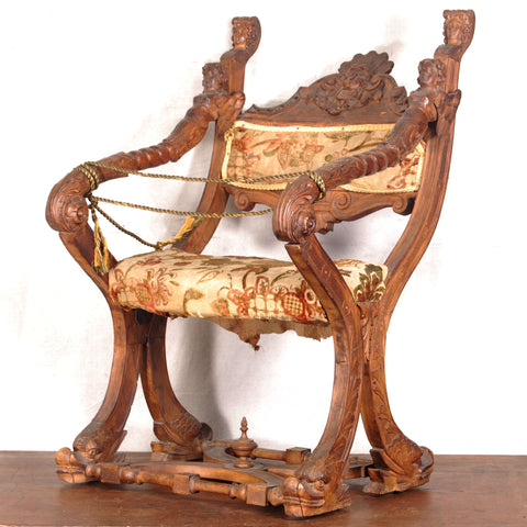 Carved Italian Chair