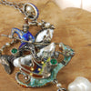 St George Enameled Necklace