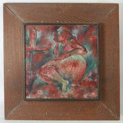 20th c Oil on Canvas Nude
