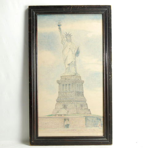 Drawing Statue Of Liberty