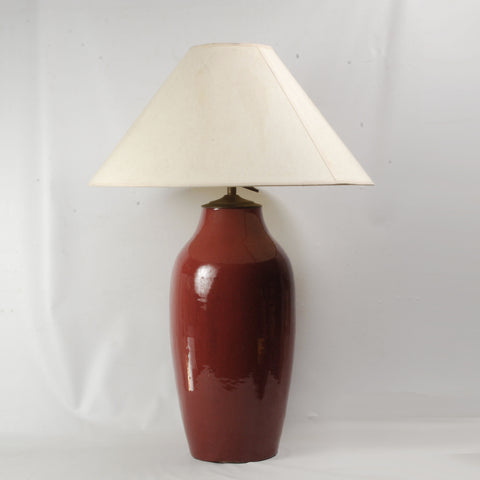 Ox Blood Vase/Lamp