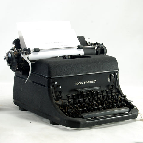 Remmington Model 17 Typewriter