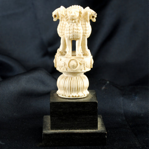 Indian Carving 4 Lions