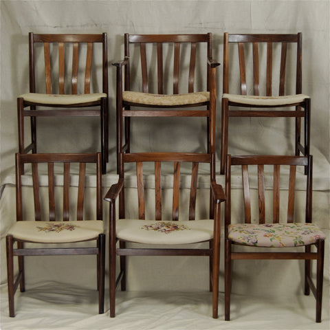 6 Rosewood Dining Chairs