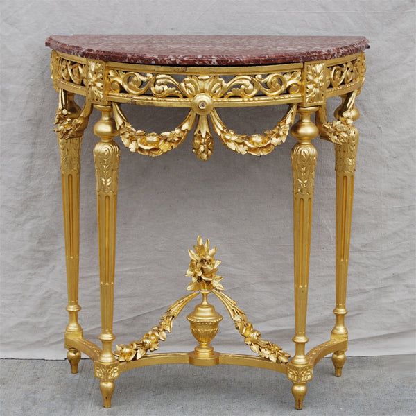 Gilt Marble Top Table