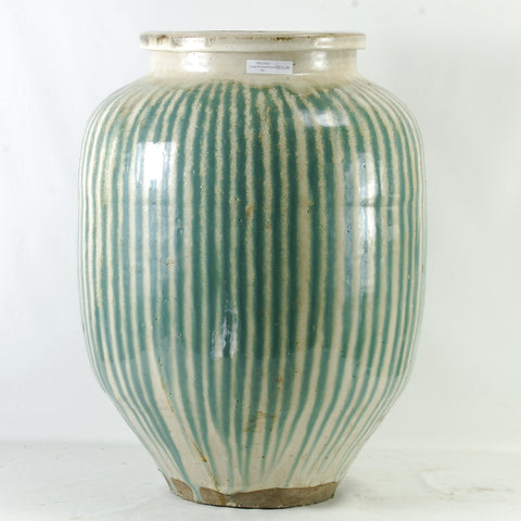 Large Oriental Striped Pot