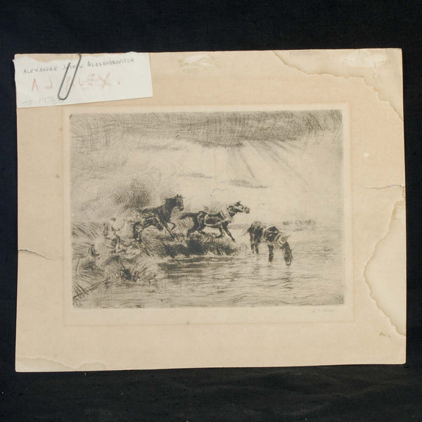 Etching Alexandre Alexandrovitch