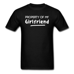 Property of My Girlfriend Funny Couple Relationship T-Shirt - black