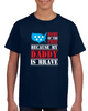 Home Of The Free Because My Daddy Is Brave Patriotic America Usa 4th Of July T Shirt - Tees Happen