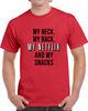 My Neck My Back My Netflix And My Snacks Funny Movie Tv Chill T Shirt - Tees Happen