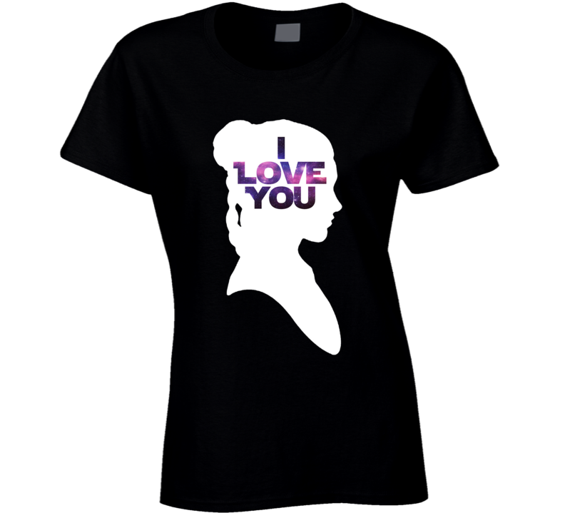Star Wars Leia 'I Love You' Silhouette Couple T Shirt - Tees Happen