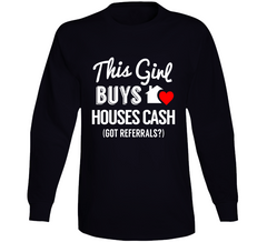 This Girl Buys Houses Cash Real Estate Agent Long Sleeve