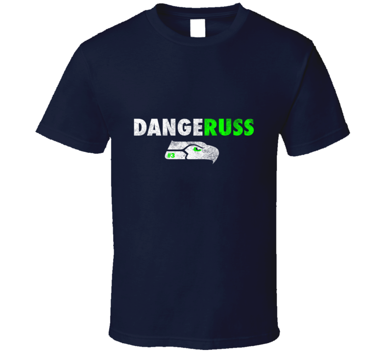 Dangeruss Russel Wilson Seattle Seahawk Football  T Shirt - Tees Happen