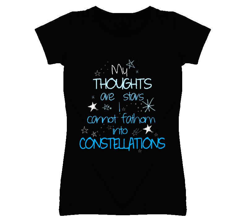 My Thoughts Are Stars I Can't Fathom Constellations Fault in our Stars T Shirt - Tees Happen