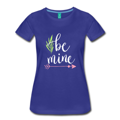 Be Mine Cute Valentine's Day Heart Love Women's Premium T-Shirt - royal blue