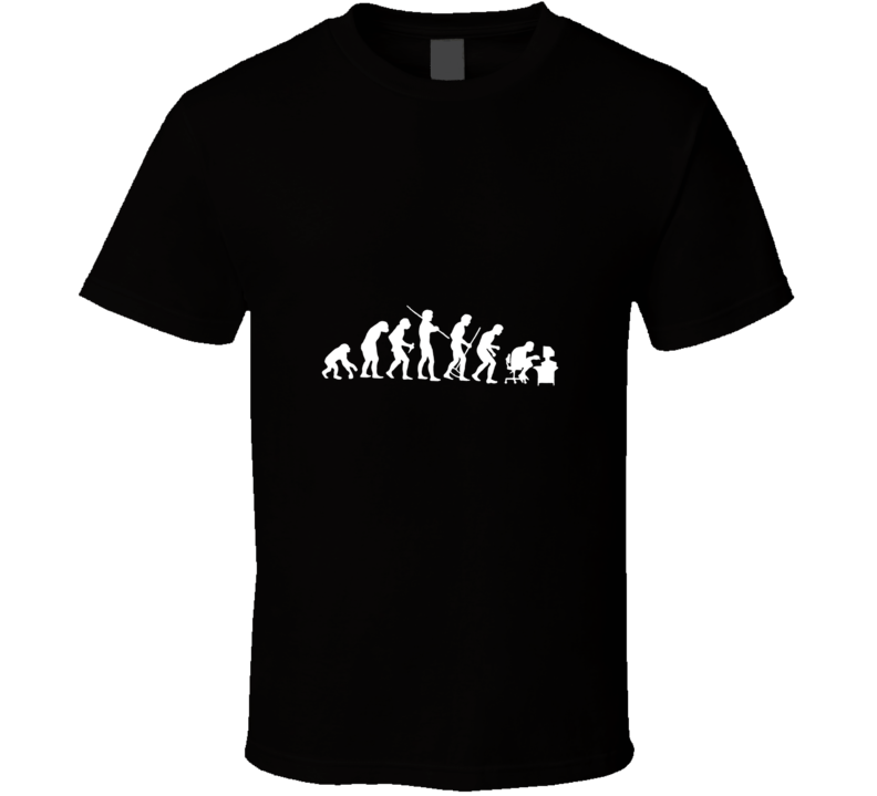 Human Evolution Funny Ape to Computer Geek T Shirt - Tees Happen