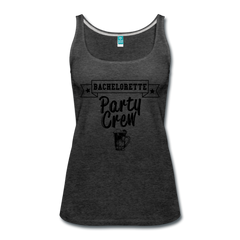 Bachelorette Party Crew Wedding Bridesmaid Celebration Team Women's Tank Top - charcoal gray