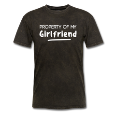 Property of My Girlfriend Funny Couple Relationship T-Shirt - mineral black