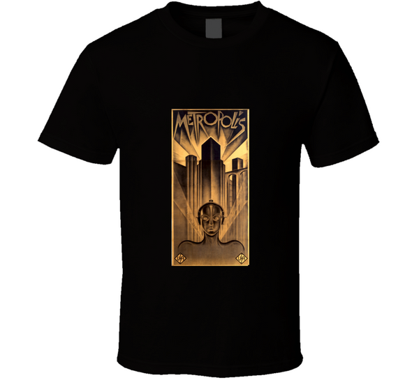 Metropolis Vintage Sci-Fi Retro Movie Poster  T Shirt - Tees Happen