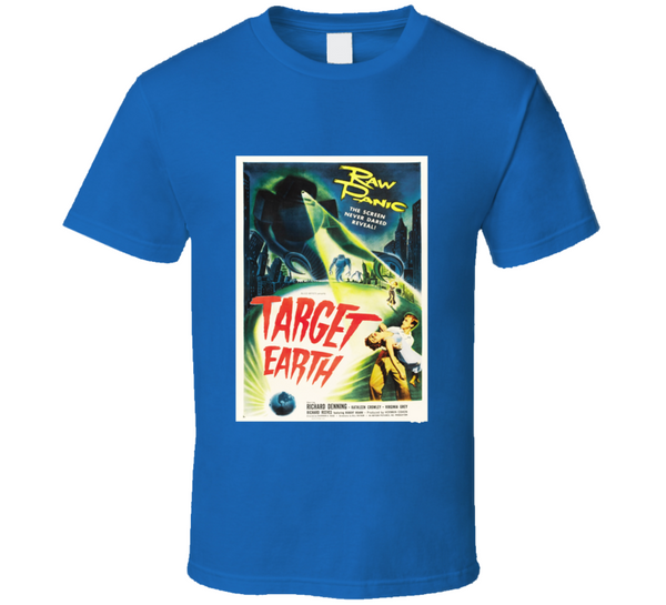 Target Earth Vintage Sci-Fi Horror Movie Poster T Shirt - Tees Happen