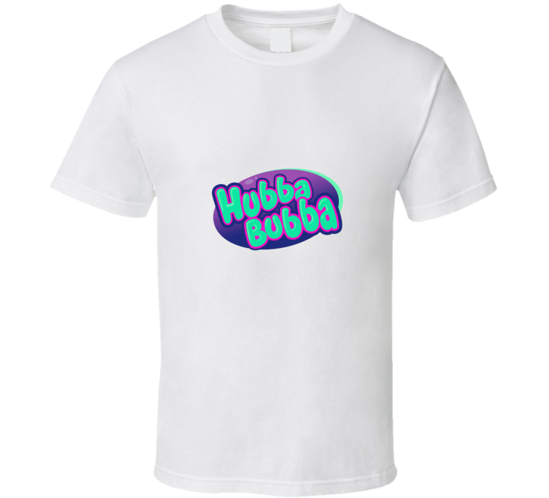 Hubba Bubba Retro Candy Gum 80s  T Shirt - Tees Happen