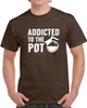 Addicted To The Pot Funny Coffee Caffeine Lovers Barista T Shirt - Tees Happen