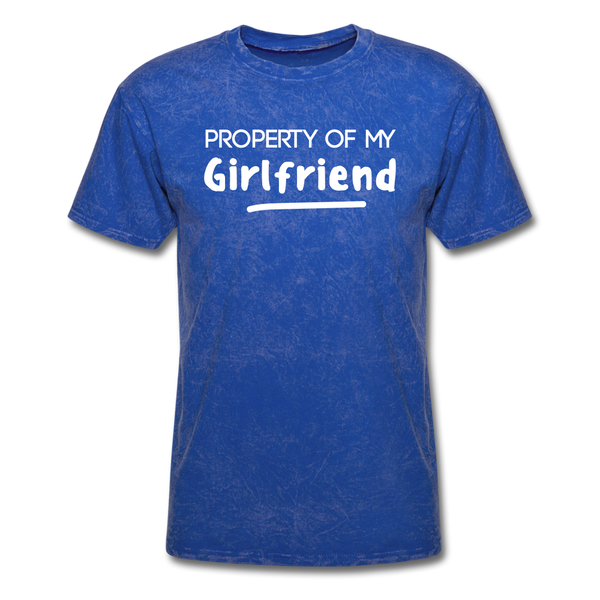 Property of My Girlfriend Funny Couple Relationship T-Shirt - mineral royal