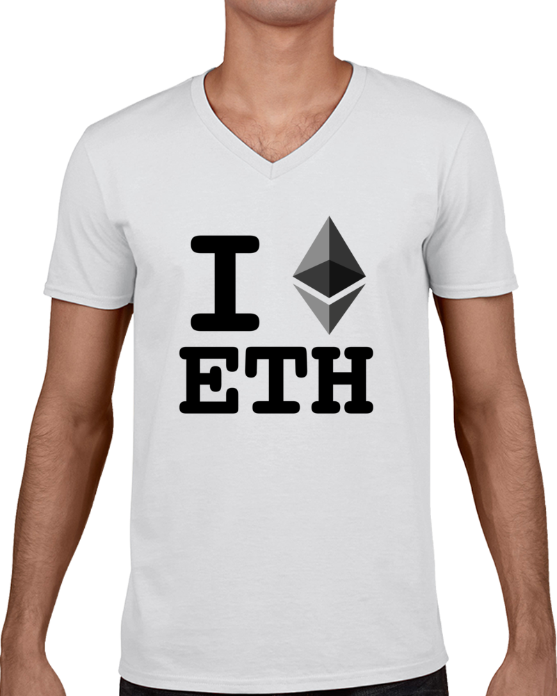 I Heart Ethereum Cryptocurrency Online Investment T Shirt - Tees Happen