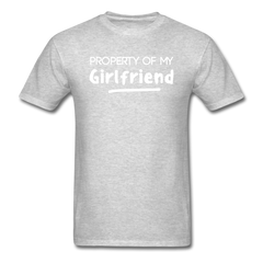 Property of My Girlfriend Funny Couple Relationship T-Shirt - heather gray