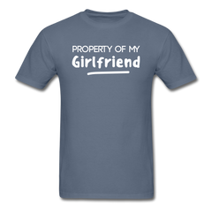 Property of My Girlfriend Funny Couple Relationship T-Shirt - denim