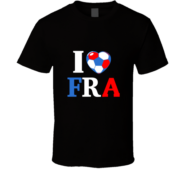 I Heart FRA France Soccer World Cup 2014 Country Flag  T Shirt - Tees Happen