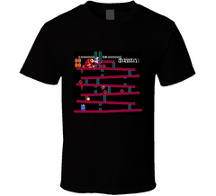 Original Donkey Kong Nintendo Level Retro Video Game T Shirt - Tees Happen