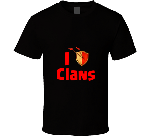 I Heart Clans Clash App Game T Shirt - Tees Happen