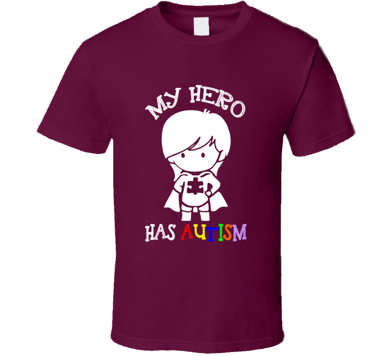 My Hero Has Autism Cute Girls Superhero Autism Awareness Cause Puzzle T Shirt - Tees Happen