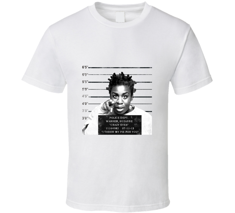 Crazy Eyes Mugshot Orange is the New Black Tv  T Shirt - Tees Happen