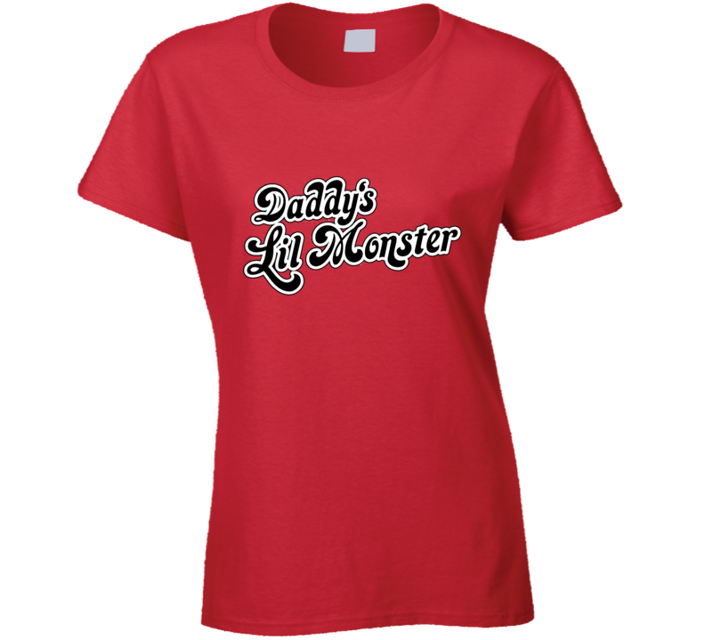 Daddy's Lil Monster Harley Quinn Suicide Squad Ladies Fitted T Shirt - Tees Happen