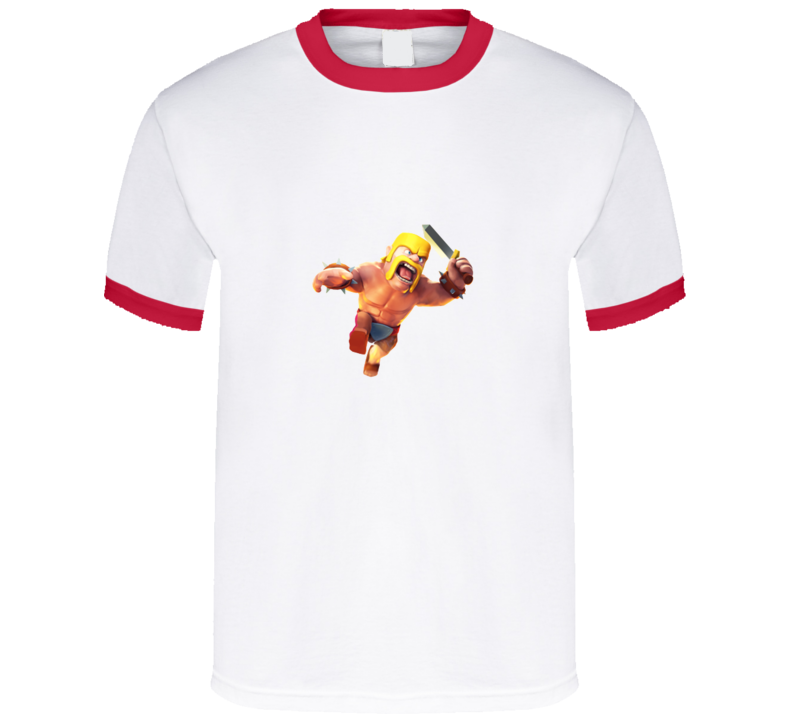 Clash of Clans Barbarian Full Body Red Ringer App T Shirt - Tees Happen