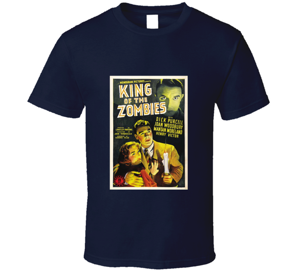 King of the Zombies Vintage Retro Horror Movie Poster T Shirt - Tees Happen
